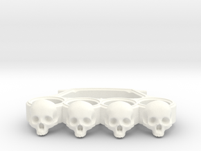 Knuckles skull edition in White Strong & Flexible Polished