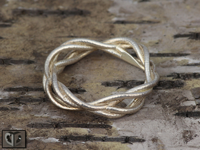 Ring - Wirl in Raw Silver