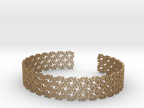 Khandi bangle F in Matte Gold Steel