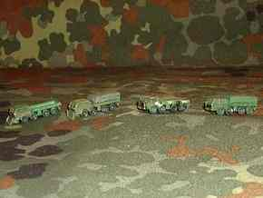 1/300 Tatra 813 Truck x 4 in White Strong & Flexible