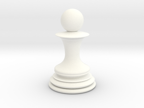Chess Pawn in White Strong & Flexible Polished
