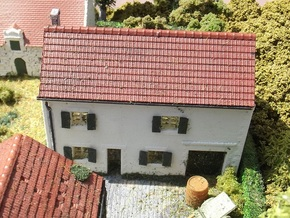 House On Hill - WSF Walls - N - 1:160 in White Strong & Flexible