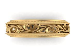 Antique scroll band  in Polished Brass