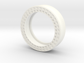 VORTEX11-38mm in White Strong & Flexible Polished