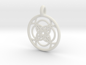 Amalthea pendant in White Strong & Flexible