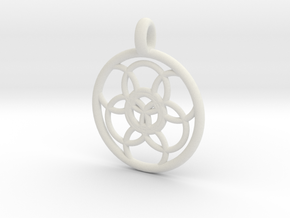 Lysithea pendant in White Strong & Flexible