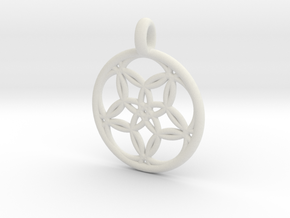 Hegemone pendant in White Strong & Flexible