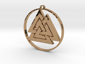 Valknut in Polished Brass