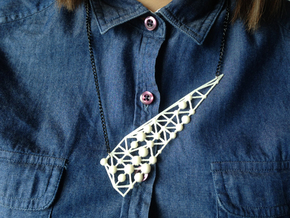 'Romantic Stalk' Necklace in White Strong & Flexible