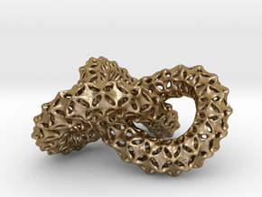trefoil knot in Polished Gold Steel