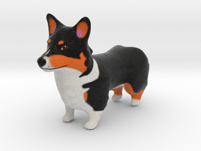 Tri-Corgi in Full Color Sandstone