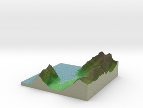 Terrafab generated model Mon Oct 06 2014 10:13:41  in Full Color Sandstone
