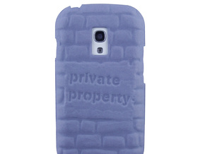 Samsung Galaxy S3 Mini Relief case in Blue Strong & Flexible Polished