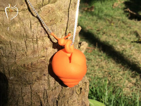 Snail Pendant in Orange Strong & Flexible Polished
