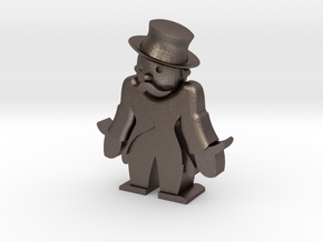 Monopoly man broke in Stainless Steel