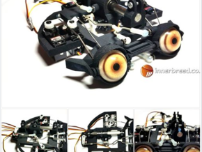 24mm Eye Mech for hs65 servos in Black Strong & Flexible