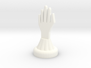Chess Knight in White Strong & Flexible Polished