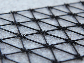 Simulation Mesh - One Diagonal in Black Strong & Flexible