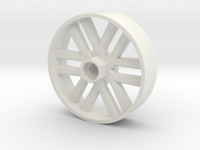 BP8 front wheel for foam tires 60mm in White Strong & Flexible