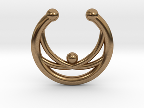 Faux Septum Ring - crisscross in Raw Brass