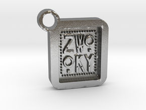 ZWOOKY Keyring LOGO 34 3cm 5.5mm in Raw Silver
