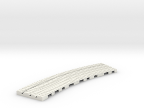 P-9-165st-long-250r-curved-outside-1a in White Strong & Flexible