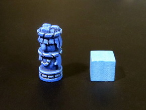 Mayan Worker Tokens (6 pcs) in Blue Strong & Flexible Polished