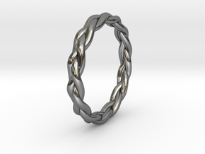Braid Ring in Polished Silver