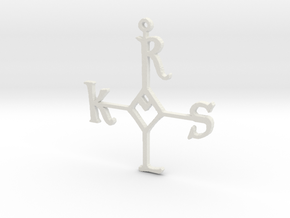 "Karolus ornament 4"" in White Strong & Flexible"
