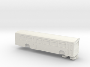 N Scale 1:160 Gillig Phantom bus in White Strong & Flexible