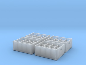 1:48 Wooden 12 bottle crate - 4ea in Frosted Ultra Detail