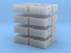 1:48 Wooden 12 bottle crate - 16ea in Frosted Ultra Detail