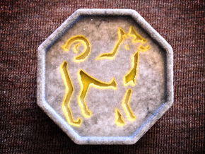 Dog Talisman in Full Color Sandstone