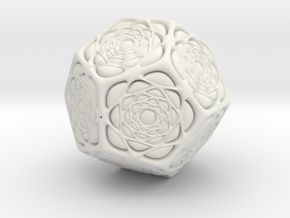 Christmas tree Ornament #15 in White Strong & Flexible
