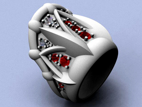 Neptune Ring - Size 12 (21.49 mm) in Raw Silver