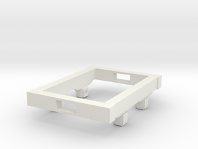 Gn15 small 4ft wagon chassis in White Strong & Flexible