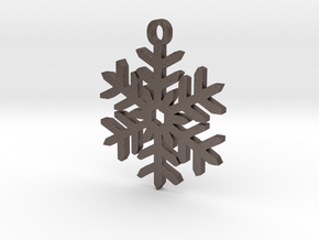Snowflake Pendant Necklace in Stainless Steel
