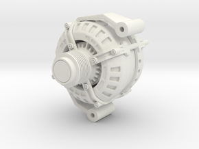 3D Printed Alternator - Large in White Strong & Flexible