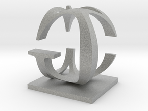 Two way letter / initial C&G in Metallic Plastic