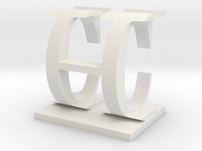 Two way letter / initial C&H in White Strong & Flexible