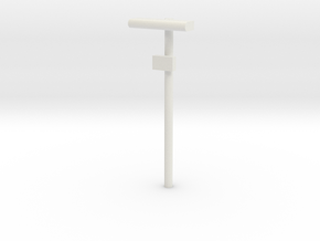 1/160 - DSB Stations lampe med lille undertavle (V in White Strong & Flexible