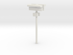 1/160 - DSB Stations lampe (dobbelt) med skilt og  in White Strong & Flexible