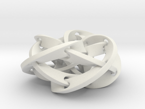 Knotted Torus Woven Together Smaller in White Strong & Flexible