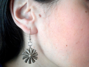 """turbine"" earrings in Stainless Steel"