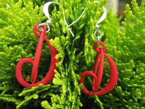 Three-Loop Earrings in Red Strong & Flexible Polished