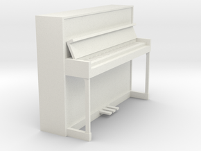 Miniature 1:24 Upright Piano in White Strong & Flexible