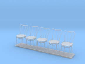 Miniature 1:24 Bentwood Camel Back Chairs (5) in Frosted Ultra Detail