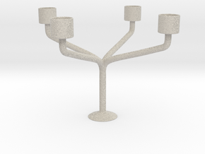 Candlestick for 4 candles/Kandelaar voor 4 Kaarsen in Sandstone