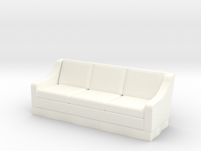 1:48 Skirt Sofa in White Strong & Flexible Polished