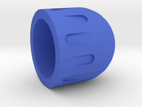 Paintball Precision Rubber Bullet in Blue Strong & Flexible Polished